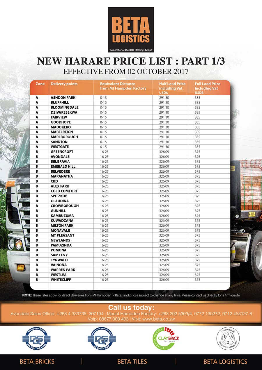 BETA-LOGISTICS-PRICE-LIST-HARARE-01